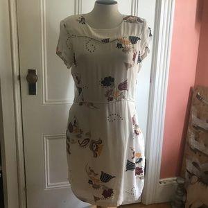 Maje Cream & Floral Dress
